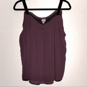 Converse One Star dusty plum sleeveless top